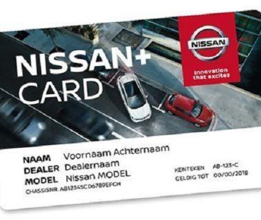 Nissan+ Card voor slechts €29,95 per jaar